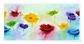 Premium-Poster Flowers colorful