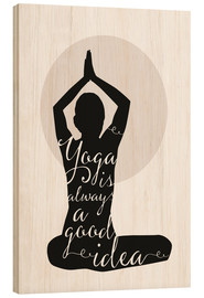 Holzbild  Yoga - Amy and Kurt