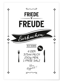 Premium-Poster  Eierkuchen - Amy and Kurt