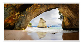 Premium-Poster Cathedral Cove - Neuseeland