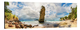 Alubild  Traumstrand - Cathedral Cove Beach - Neuseeland - Michael Rucker