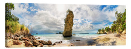 Leinwandbild  Traumstrand - Cathedral Cove Beach - Neuseeland - Michael Rucker