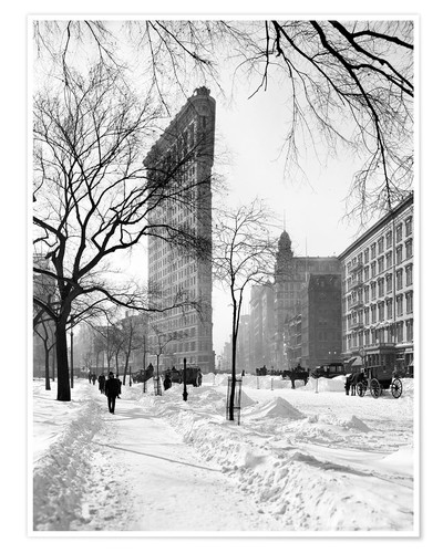 Premium-Poster New York, Winter 1906, Flatiron Building