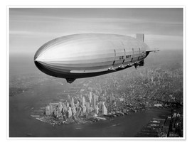 Poster USS Macon Luftschiff über NY
