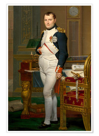 John Parrot - Vintage painting of The Emperor Napoleon in his study.