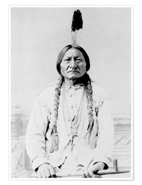 Premium-Poster  Sioux-Häuptling Sitting Bull