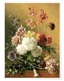 Premium-Poster Still Life with Flowers