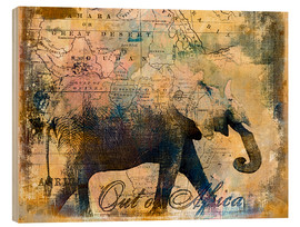 Holzbild  Out of Africa - Andrea Haase