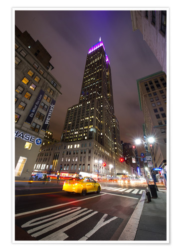 Premium-Poster New York Empire state buildind