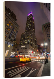 Holzbild  New York Empire state buildind - Vincent Xeridat