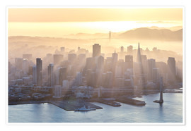 Poster San Francisco im Nebel