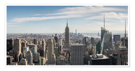 Premium-Poster Manhattan-Skyline mit Empire State Building