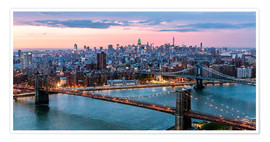 Premium-Poster Midtown Manhattan Panorama