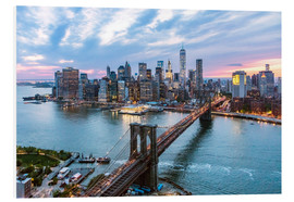 Hartschaumbild  Manhattan-Skyline - Matteo Colombo