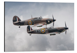 Alubild  BBMF SPit and Hurry - airpowerart