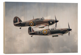 Holzbild  BBMF SPit and Hurry - airpowerart