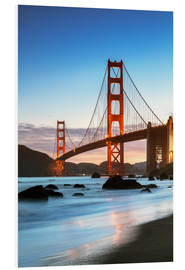 Forex  Golden Gate Bridge in der Dämmerung von Baker Beach, San Francisco, Kalifornien, USA - Matteo Colombo