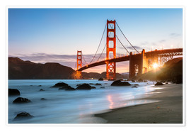 Premium-Poster Golden Gate Bridge mystisch