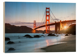 Holzbild  Golden Gate Bridge mystisch - Matteo Colombo