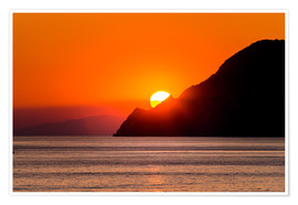 Poster Sunset in Cinque Terre