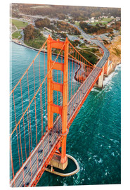 Acrylglasbild  Fliegen über Golden Gate Bridge, San Francisco, Kalifornien, USA - Matteo Colombo