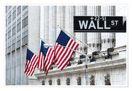 Premium-Poster New York Stock Exchange, Wall Street, New York, USA