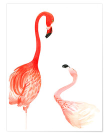 Premium-Poster Flamingo Love