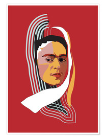 Premium-Poster Frida Abstract