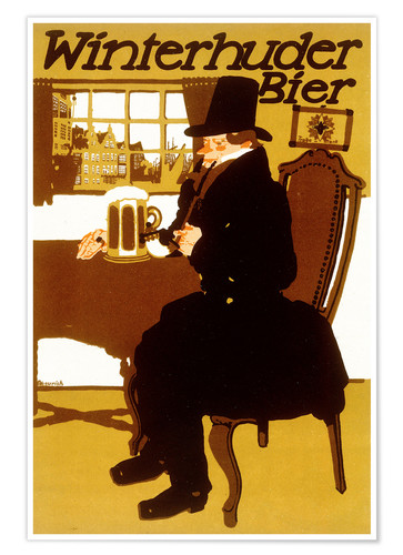 paul scheurich winterhuder bier poster online bestellen. Black Bedroom Furniture Sets. Home Design Ideas