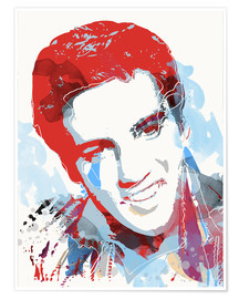 Poster  alternative elvis presley pop art - 2ToastDesign
