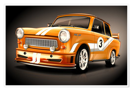 Poster Trabant 601 GT Racing