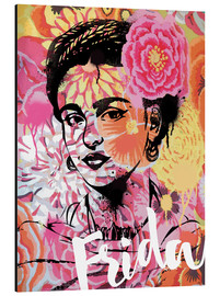 Alubild  Frida Pop Art - Nory Glory Prints