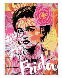 Premium-Poster Frida Pop Art