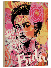 Holzbild  Frida Pop Art - Nory Glory Prints