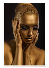 Poster Fantastisches Gold-Make Up