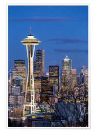 Premium-Poster  Space Needle - Seattle - Thomas Klinder