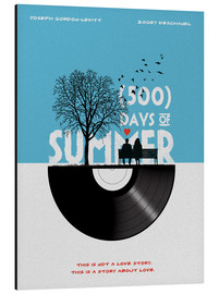 Alubild  500 days of summer (Englisch) - Golden Planet Prints