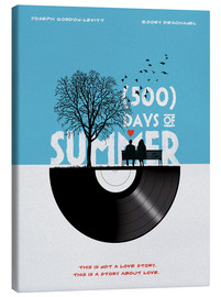 Leinwandbild  500 days of summer (Englisch) - Golden Planet Prints