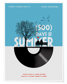 Poster 500 days of summer movie inspired illustration