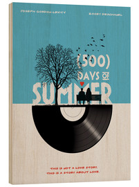 Holzbild  500 days of summer (Englisch) - Golden Planet Prints