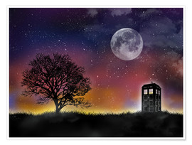 Premium-Poster  Tardis, Doctor Who - Golden Planet Prints