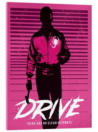 Acrylglas  Drive ryan gosling movie inspired art - Golden Planet Prints
