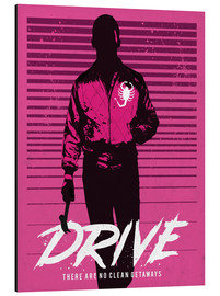 Alubild  Drive ? alternative art with Ryan Gosling - Golden Planet Prints