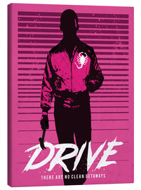 Leinwandbild  Drive ? alternative art with Ryan Gosling - Golden Planet Prints