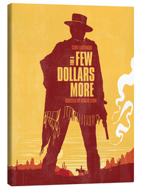 Leinwandbild  For a few dollars more western movie inspired - Golden Planet Prints