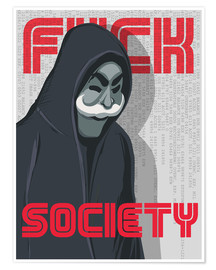 Premium-Poster  F*ck Society, Mr. Robot - Golden Planet Prints