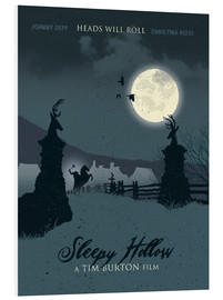 Forex  Sleepy hollow heads will roll movie inspired illustration - Golden Planet Prints