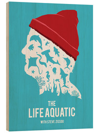 Holzbild  The life aquatic with Steve Zissou (Englisch) - Golden Planet Prints