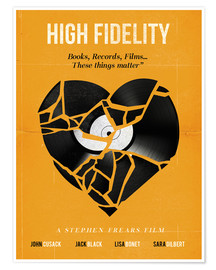 Premium-Poster High fidelity Minimalist art movie inspired
