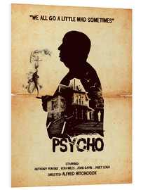 Forex  Psycho movie hitchcock silhouette art - Golden Planet Prints
